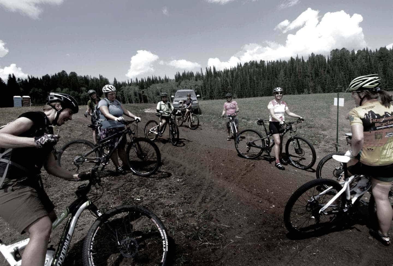 Saturday morning women's only fundamental mountain bike technique clinic