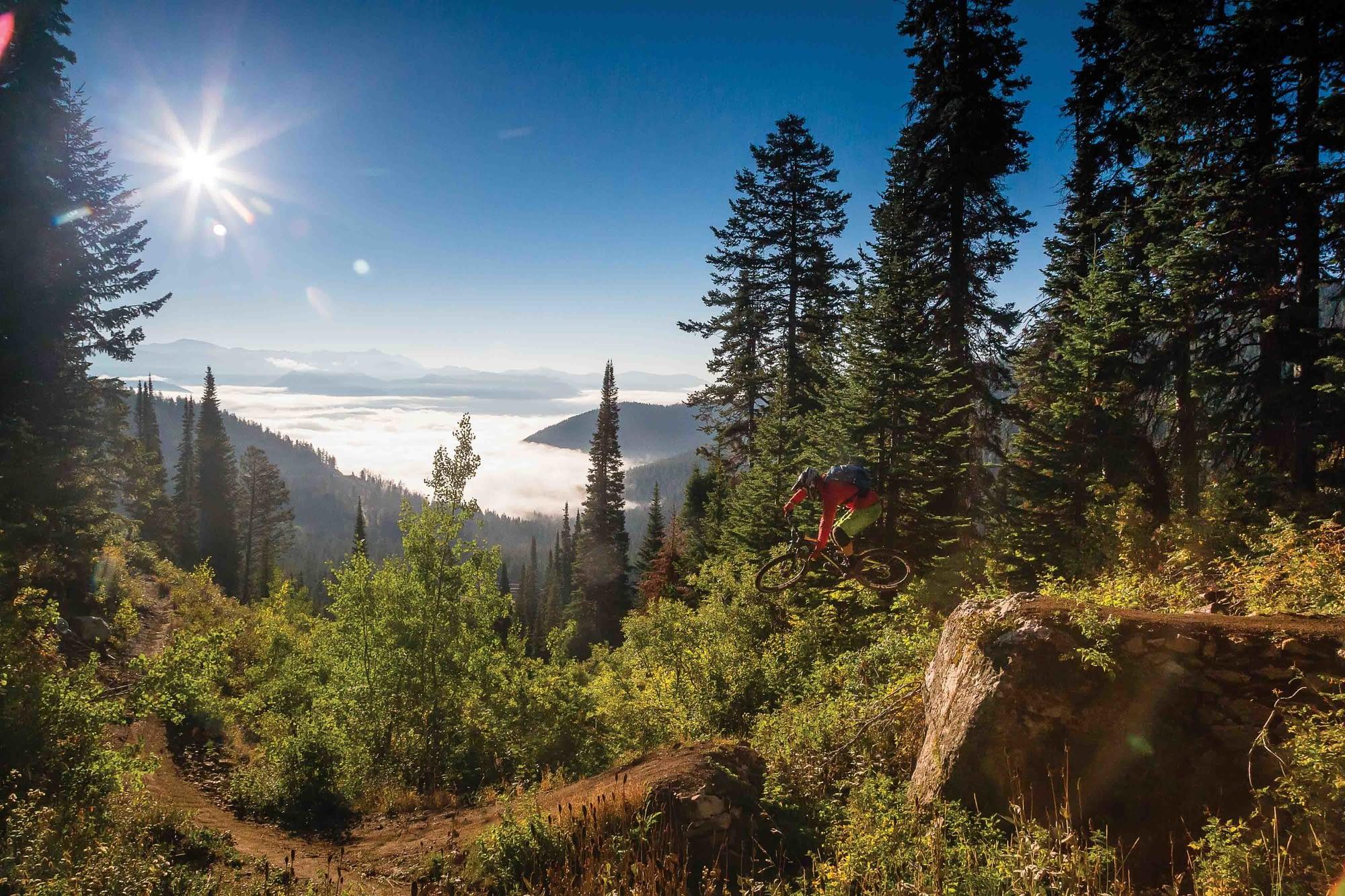 sunrise mountain biking tetons wyoming